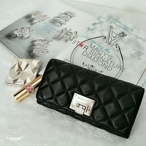 Michael Kors Quilted Large Leather Wallet in Black